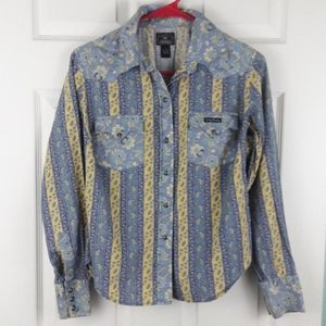 Lucky Brand Western Snap Button Shirt Size Small